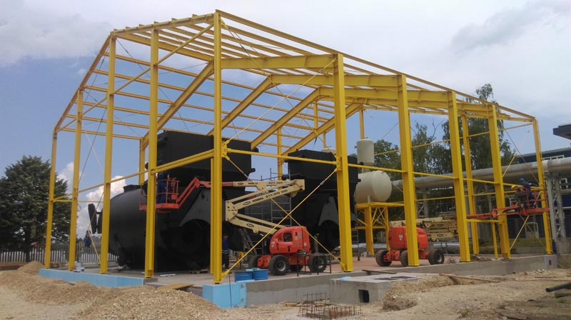 Steel construction of steam boiler TE -TO Zagreb – MIPEK d.o.o.